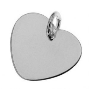 Sterling Silver  Heart Charm 10mm For Engraving